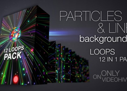 Colorful Particles And Lines Backgrounds Pack