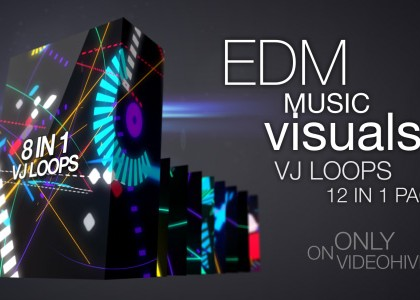 EDM Music Visuals VJ Pack