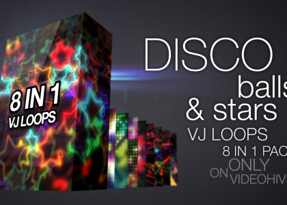 Disco Balls & Stars VJ loops Pack