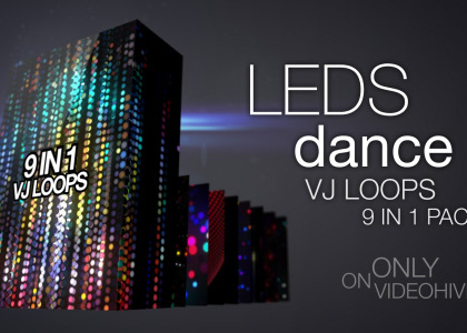 LEDs Dance VJ Loops Pack