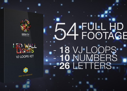 LED Lights Wall VJloops Kit