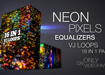 Neon Pixels Equalizers VJ Pack