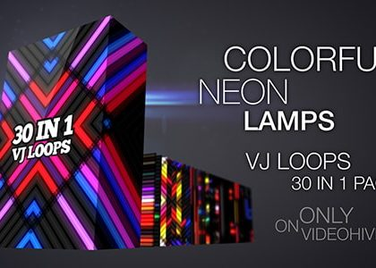 Colorful Neon Lamps VJ Pack