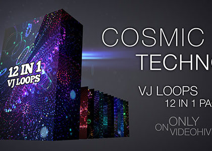 Cosmic Techno VJ Loops Pack