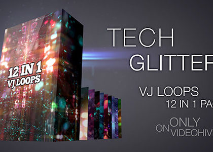 Tech Glitters VJ Loops Pack