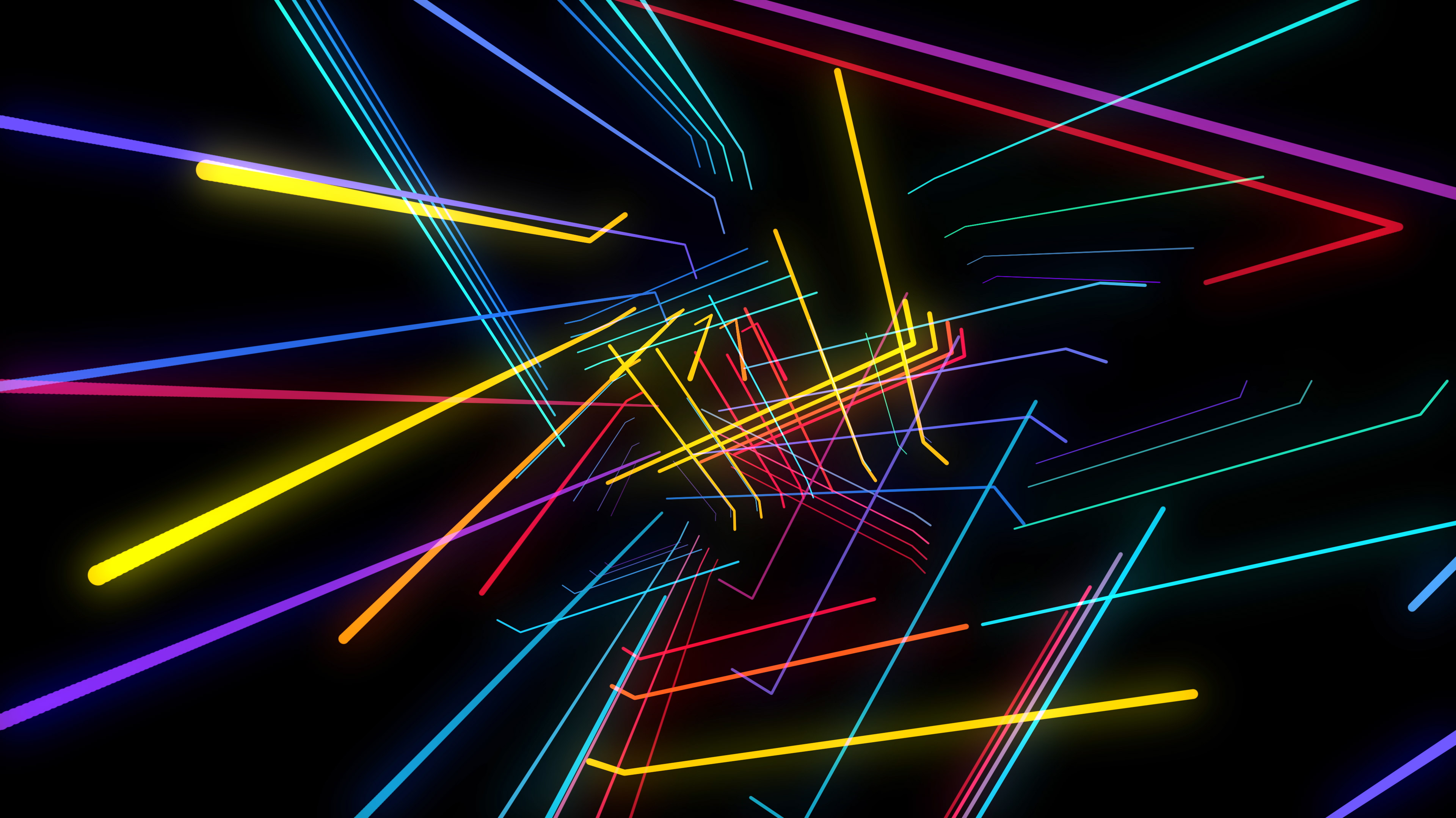 Colorful Lines 4K VJ loops Pack by Gesh tv