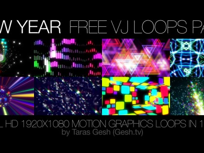 New Year VJ loops Pack
