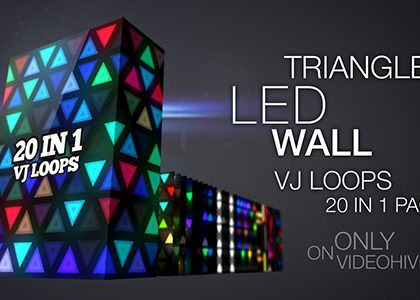 Triangles LED Wall VJ Loops Pack