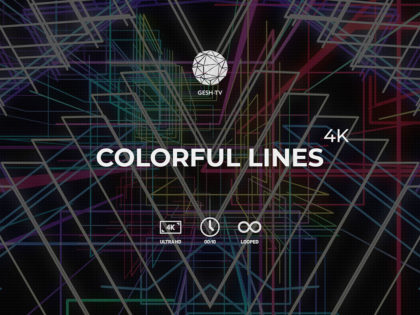 Colorful Lines 4K Pack